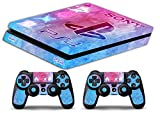 Skin PS4 SLIM HD - WATERCOLOR - limited edition DECAL COVER ADHESIVO playstation 4 SLIM SONY BUNDLE