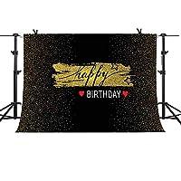 GEME869 MME 10x7フィート ファンタジー ゴールデンバックグラウンド ベビーシャワー スイート16 誕生日テーマパーティー 写真背景 ビニールビデオスタジオ小道具