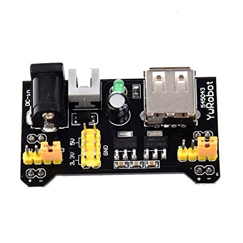Cikuso Rangliste MB102 Breadboard 3.3V/5V Power Supply Module 3.3V/5V Fuer Arduino Board