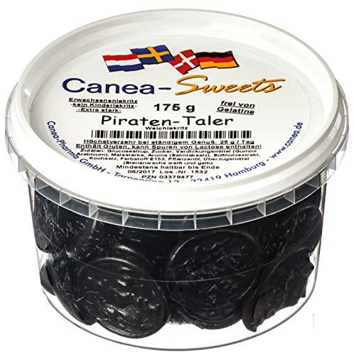 Canea-Sweets Super salziges Starklaritz, Lakritzmünzen PIRATEN Taler Dose, 1er Pack (1 x 175 g)