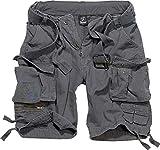 Brandit - Pantaloni corti da uomo Savage Vintage Gladiator, cintura abbinata inclusa, molti colori, taglie fino a 7XL antracite. XL
