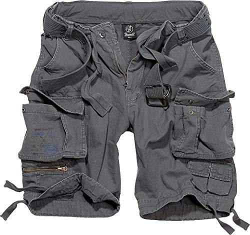 Brandit Savage Vintage Gladiator - Pantalón corto con cinturón a juego, muchos colores, también tallas grandes hasta 7XL antracita M
