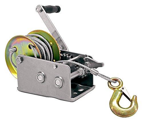 CALHAWK 3200lbs Dual Gear Hand Winch Hand Crank Manual Boat ATV RV Trailer 32ft Cable
