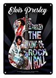 Midsouth Products Elvis Presley Tin Sign 8'X11.5'- Guitar Collage
