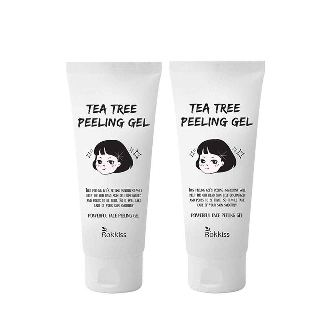 レタス泣き叫ぶ揺れるロッキーズティーツリーピーリングジェル120mlx2本セット韓国コスメ、Rokkiss Tea Tree Peeling Gel 120ml x 2ea Set Korean Cosmetics [並行輸入品]