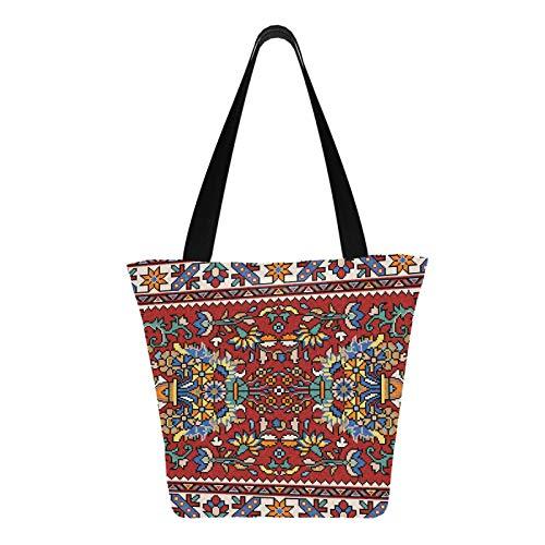 Colorido mosaico oriental alfombra tradicional folk 11 × 7 × 13 pulgadas...