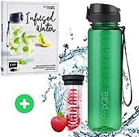 """720°DGREE Trinkflasche """"uberBottle"""" crystalClear +Früchtebehälter - 350ml, 500ml, 650ml, 1L, 1,5L - BPA-Frei -..."""