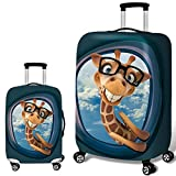 Elastisch Kofferhülle mit Reißverschluss 18-32 Zoll Verschleißfeste Giraffe Luggage Cover Reisekoffer Hülle Kofferschutzhülle Gepäck Cover Kofferbezug Schutzbezug Kofferschutz F1-18'-20'