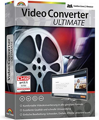 Video Converter Ultimate - 3 USER Lizenz - Videos konvertieren, bearbeiten, drehen für Windows 10, 8.1, 7