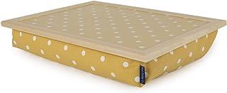 Blauwe badge Co Canarische Geel Spotty Lap lade met kussen, TV Diner Bean Bag Bottom Kussende Laptray, Laptop Houder Bed B...