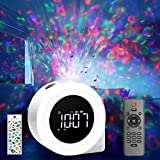 Star Projector Night Light,ROTEK Alarm Clock Galaxy Projector with 8 Lighting Effects,White Noise Sound DIY Stickers LED Night Light Bluetooth Speaker with Remote Control for Kids Adult Home Bedroom