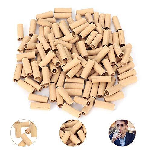 GOLRISEN Filtros Cigarrillos Desechables,120 unids Boquillas de Cigarrillos,Filtros Tabaco 6mm,Filtros Fumar Cartón,para Filtrar la Nicotina y el Alquitrán en el Tabaco,Protege Tu Garganta y Pecho