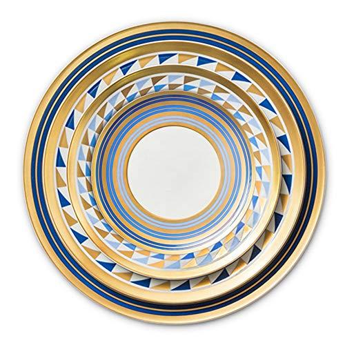 Sunbobo Table Decoration Plate 4 Piezas de Porcelana de Hueso del vajilla del Restaurante Steak Inicio Placa Placa de cerámica Elegante Western Steak Plate (Color : Multi-Colored, Size : One Size)