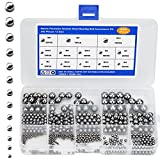 540 Pcs Bolas de Acero Rodamientos de Bolas de Acero Bolas de Acero de Metal para Ruedas de Bicicleta, Rodamientos de Patineta
