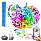 Smart LED Striscia Alexa 10M Aerb, WiFi Intelligente RGB Luci IP65 Impermeabile, Colorati, 300LED SMD5050, Con Alexa Google Home, SMART LIFE, Controllato Musica, Per Decorazione, Natale, Feste, Casa