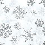 AvanCarte Napkins Christmas Winter white snowflakes 20 pcs 3-ply 33x33cm