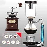 Chunjiao Grindero de café manual -Siphon Coffee Pot Set SIPHON ZODIAC TOTEM SIPHON POT CAFETER 11 Colores, 3 tazas, 110 * 352mm Cafetería de vacío Maquina de cafe (Color : B)