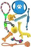 EONAZE Giochi per Cani,Giocattoli Cane Resistenti da Masticare,Corda Giochi Cane Interattivi Giocattoli per Cani Piccoli e Media Taglia,per Cane Cucciolo di Dentale Salute Pulizia dei Denti-10 Pack