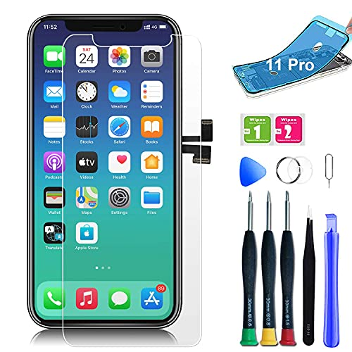 for iPhone 11 pro Screen Replacement 3D Touch Screen Display Digitizer Replacement Assembly Repair Kit with Complete Repair Tools and Screen Protector (5.8 inch)