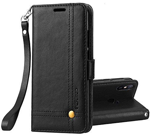 Ferlinso Cover Xiaomi Mi Mix 2s Custodia, Cover pelle elegante retrò con Custodia Slot Holder per carta di credito Custodia...