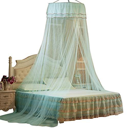 Portátil Bed Canopy Hung Mosquito a prueba de mosquitos Redondo Princesa Cama Cortina Cortina Cortina Plegable Tarifón Plegable en la cama Elegante Tassels de encaje de hadas para el hogar interior al
