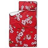 WYYWCY Kimono Chino Sakura Rojo sin Costuras Vector Rolling Nap Mat Portador de...
