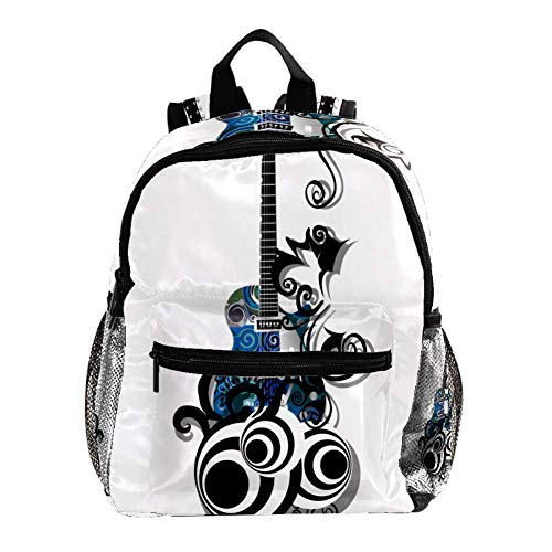 Mochila Escolar Guitarra electrica Azul Cute Student Backpack Design Mejor Mochila para...