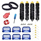 ilovelife Replacement Parts Accesories Compatible for iRobot Roomba 675 670 665 690 692 671 677 650 655 614 ONLY,Bristle &Beater Rubber Side Main Roller Brush Filter Wheel tire