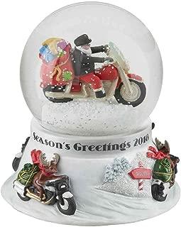 HARLEY-DAVIDSON Winter 2018 Sculpted Biker Santa Glass Snow Globe HDX-99108