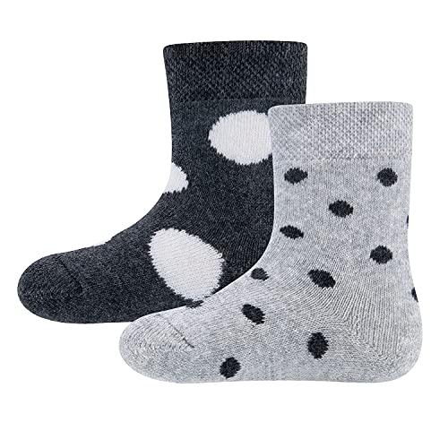 Ewers 2er Pack THERMO Socken Punkte für Mädchen, MADE IN TURKEY, Socken Mädchensocken Babysocken Baumwolle