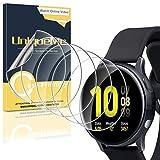 [5 Pack] UniqueMe Protector de Pantalla para Samsung Galaxy Watch Active 2 44mm, [Flexible] Película Transparente de Burbuja de TPU Huella Digital Disponible