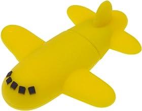 Uflatek 16 GB USB Flash Drive Airplane Memory Stick 2.0 Silicone Thumb Drive Yellow Pendrive Cartoon Jump Drive Fold Data ...