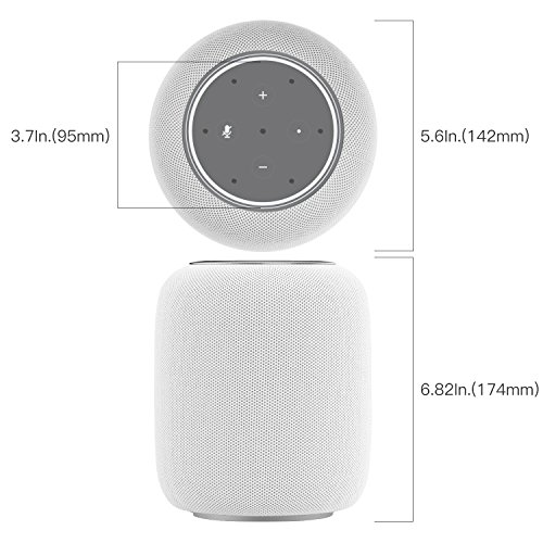 Yawenner 3D Stereo-Making DIY Guard Dock Station Protective Case Shell for Dot 2nd Generation change to Homepod (Grey)