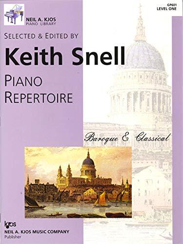 GP601 - Piano Repertoire - Baroque & Classical - Level 1