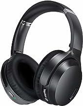 Active Noise Cancelling Headphones, HROEENOI JZ02 Bluetooth Headphones, Over Ear Wireless Headphones, CVC 8.0 Microphone Deep Bass Headset, 40 Hours Playtime, Foldable Adults Travel Work PC TV Black