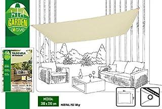 Aktive Garden 53917 - Toldo Vela para Jardín Color Crema