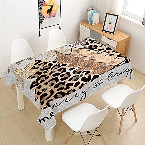 XXDD Tovaglia Albero di Natale Poliestere Hotel Tavolo da Picnic Tovaglia Rettangolare Home Restaurant Coffee Table A8 140x200cm