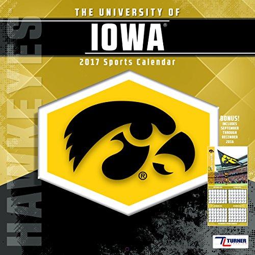 """Turner Licensing Sport 2017 Iowa Hawkeyes Team Wall Calendar, 12""""X12"""" (17998011832)"""