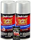 Dupli-Color Silver Metallic for Perfect Match Automotive Paint for Nissan Vehicles - (8 oz.), Bundles with Prep Wipe (3 Items)