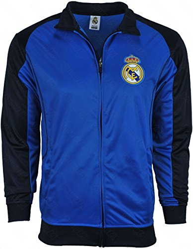 Real Madrid Jacket Track Soccer Adult Sizes Soccer Football Official Merchandise (Royal Blue, M)
