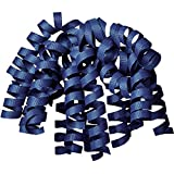 Jillson Roberts 6-Count Self-Adhesive Grosgrain Curly Bows Gift Wrap Accessory, Navy...
