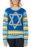 Tipsy Elves Women's Tacky Ugly Hanukkah Sweater - Star of David Chanuka Sweater: XXL Blue