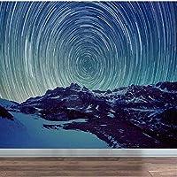 Bosakp 3Dスタースペース壁紙リビングルームのテレビの背景のための壁画プリント写真の壁紙壁の装飾壁紙の壁画 400X280Cm