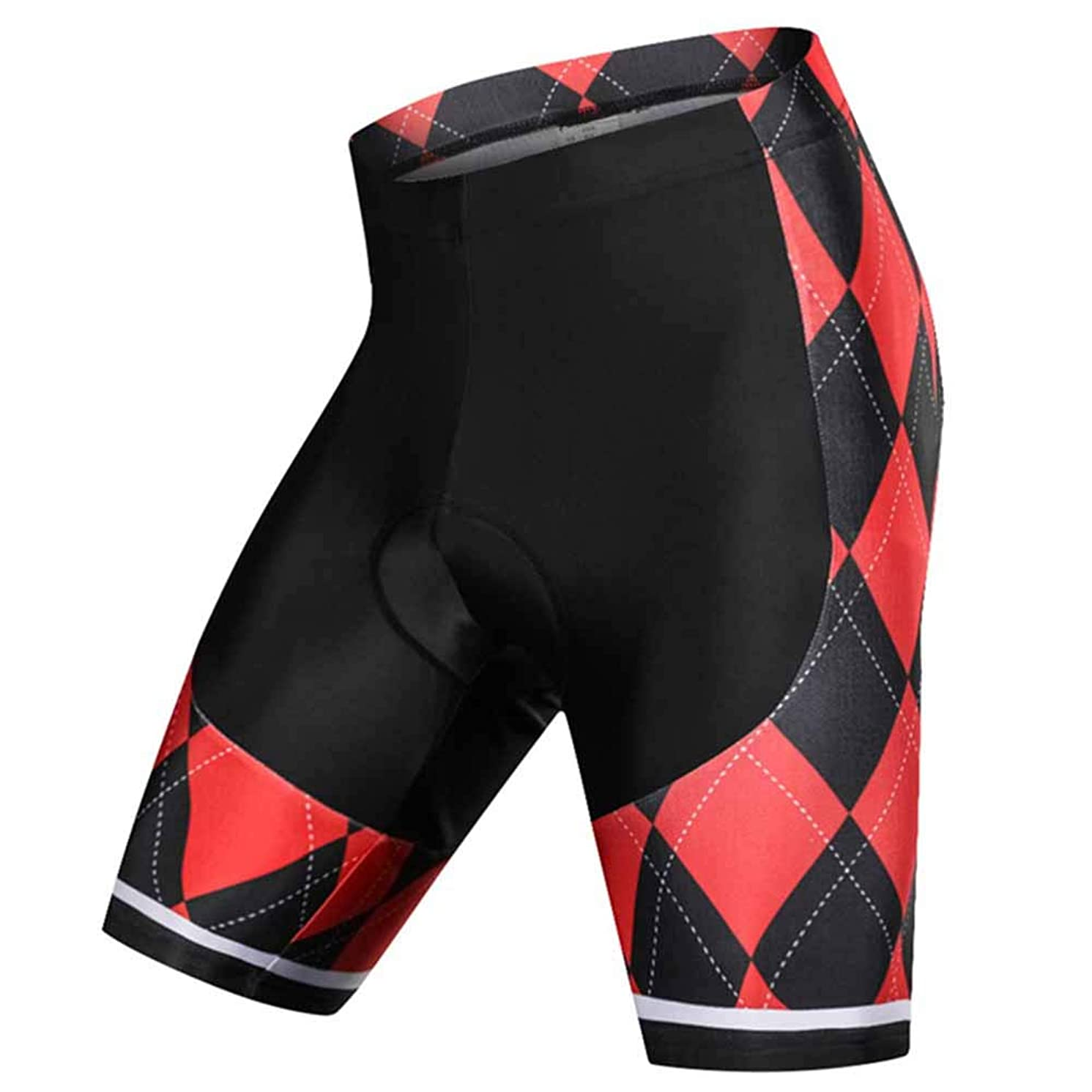 Mens Biking Shorts,Cycling Shorts Men Padded Underwear,Perspiration,Quick-Drying,Shockproof,Red,4D Gel Padding