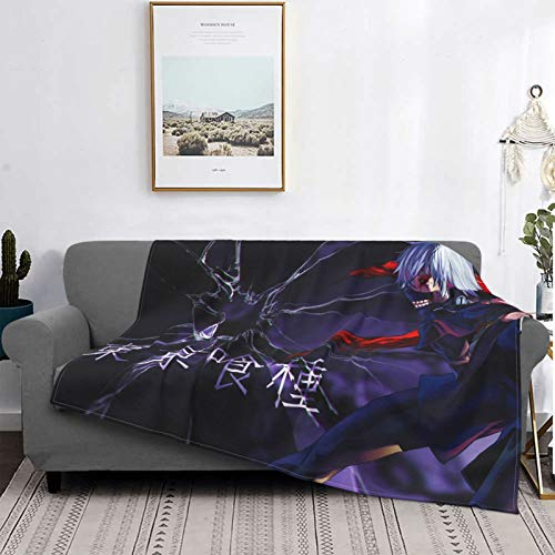 Anime Tokyo G-Houl Mantas, manta de felpa ultra suave, mantas de forro polar para sofá cama y sala de estar de 152 x 122 cm