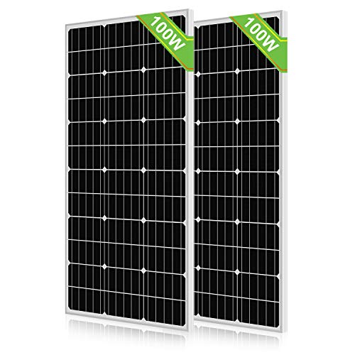 ECO-WORTHY - Módulo de panel solar monocristalino de 200 W para vehículos con kit de rejilla apagada (2 unidades)