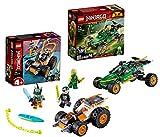 Lego NINJAGO-Set: 71700 Legacy Lloyds Dschungelräuber Auto mit Minifigur Lloyd + 71706 Coles Speeder, ab 4 Jahren