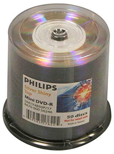 Philips Duplicator Grade DVD-R 8cm 4X Silver Shiny Mini 50PK Spindle