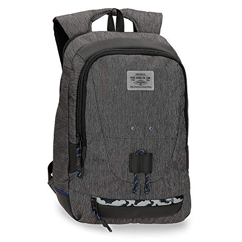 Pepe Jeans Raw Double compartment Laptop Backpack Grey 31x44x20 cms Polyester 15,6' 16.03L