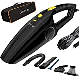 Car Vacuum, JINPUS High Power DC 12V 5000PA Stronger Suction Car Vacuum Cleaner, Corded Portable Handheld Car Vacuum Cleaner with 16.4Ft Power Cord (Black2)